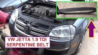 VW JETTA Golf Bora MK5 MK4 TDI 1.9 PD Serpentine Belt Replacement and Serpentine Belt Diagram