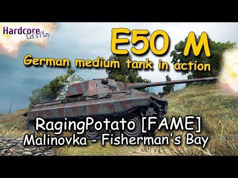 WOT: E50M, German medium all rounder in action, RagingPotato [FAME], WORLD OF TANKS