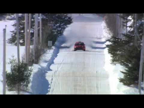Авария на зимнем авторалли