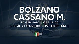 Serie A1M [15^]: Bolzano - Cassano Magnago 26-18