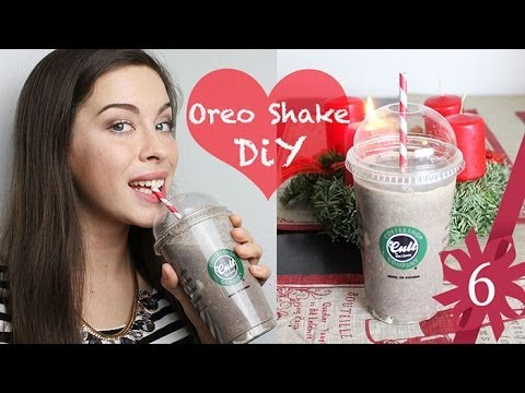 diy starbucks oreo frappuccino milk shake selber machen magnolia adventskalender t r 6 youtube. Black Bedroom Furniture Sets. Home Design Ideas