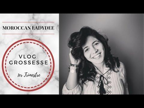 Vlog Grossesse : 1er Trimestre   MOROCCAN LADYDEE  تجربتي مع اشهر الحمل الاولى ,كيفاش عرفت راسي حامل