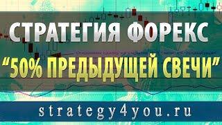 """Стратегия форекс """"50% предыдущей свечи"""""""