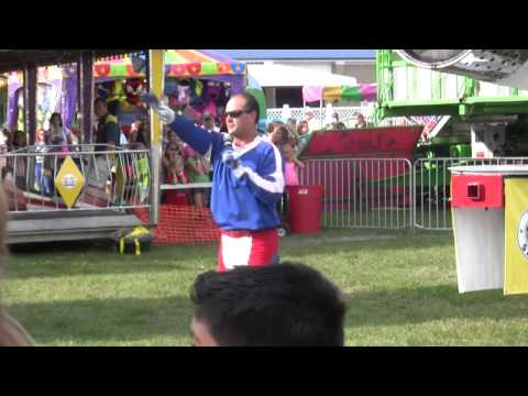 Human Cannonball takes flight at Steele County Free Fair