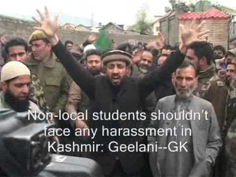 What Geelani Said On NIT Issue And Harassment Of Kashmiri Students