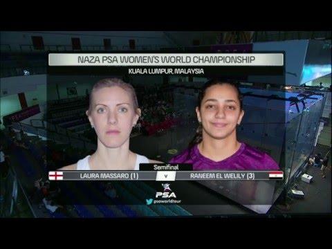 NAZA PSA WOMEN'S WORLD CHAMPIONSHIP - Semi Final Roundup - Massaro v Welily