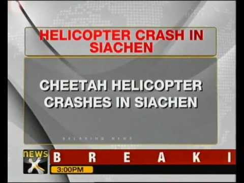 Army Helicopter Crashes In Siachen, Pilot Dead - Newsx video