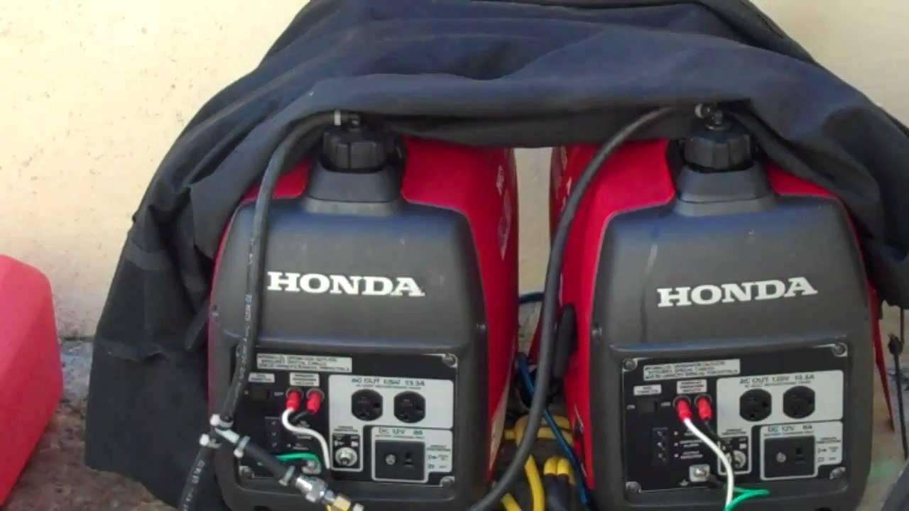 Honda Eu2000i In Action Youtube