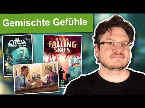 3 Brettspiel Ersteindrücke   Einspruch, Die Crew 2, Under Falling Skies