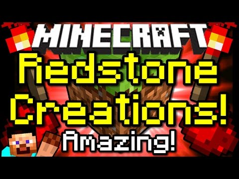 Minecraft AMAZING REDSTONE CREATIONS! Holodecks, Automatic Missiles & More!
