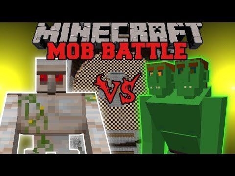 MUTANT IRON GOLEM VS. END OGRE - Minecraft Mob Battles - Witches and More Mod Battle