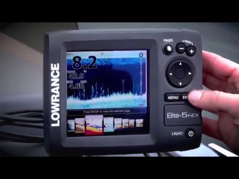 Lowrance Elite 5 HDI Fishfinder Overview