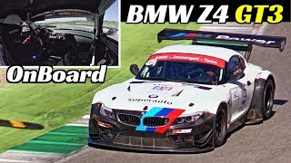 BMW Z4 GT3 and its AMAZING V8 Engine Sound! - Marco Iacoangeli OnBoard at Mugello Time Attack 2019