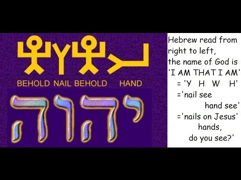 YHWH God's name Jesus hands nailed on cross title written by Pilate too