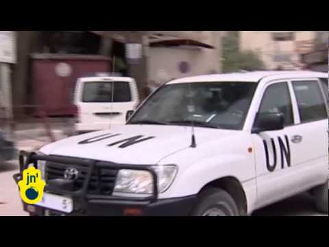 Syrian Forces Attack Near UN Vehicles: Ban Ki-moon Wants More United Nations Cease-Fire Monitors