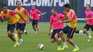 Barcelona and Chelsea Practice for Next Match