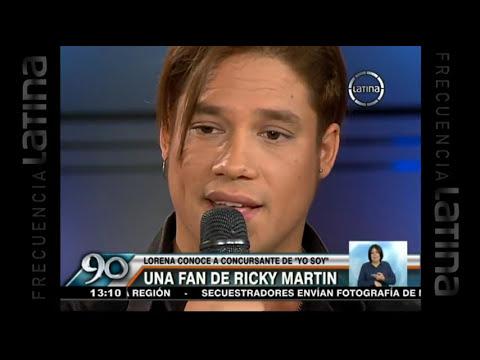 Imitador de Ricky Martin le robó el corazón a Lorena Álvarez