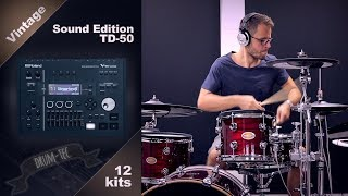 Roland TD-50 Vintage Sound Edition by drum-tec playing all kits demo