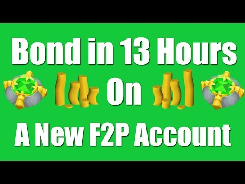 [OSRS] Bond in 13 Hours on a New F2P Account - Oldschool Runescape Money Making Guide
