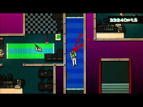 Hotline Miami: A+ Rank On Chapter Eight - Push It - Using Carl   Grasshopper Mask video