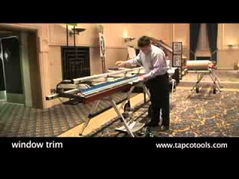 Bending Aluminum For Window Trim With A Tapco Brake Youtube
