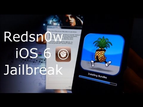 Redsn0w iOS 6 Jailbreak With Cydia