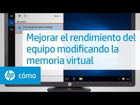 Mejorar el rendimiento del equipo modificando la memoria virtual | HP Computers | @HPSupport