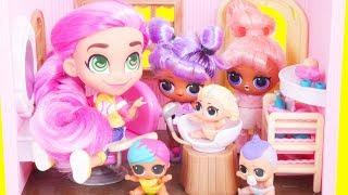 LOL Surprise Dolls Hairdorables SERIES 2 + Custom Bedroom | Toy Egg Videos