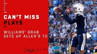 Mike Williams Soars to Make the Grab & Sets Up Keenan Allen