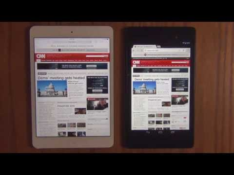 iPad Mini 2 (Retina Display) vs New Nexus 7 2013 Web Browser Speed Test