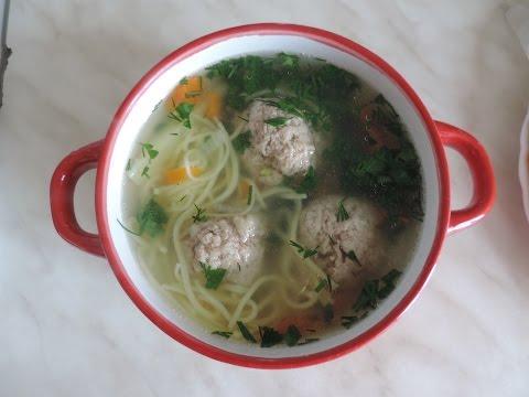 Суп лапша с фрикадельками. Ну очень вкусный, домашние рецепты