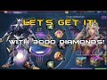 Mobile Legends - Magic Wheel | 3000 DIAMONDS Let's get the Saber's NEW Skin! - Codename : Storm