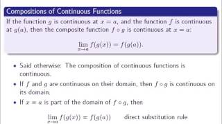 2.9.3 Composite functions, continuity, and limits
