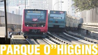 """Metro De Santiago   Trenes Alstom por Parque O""""Higgins"""