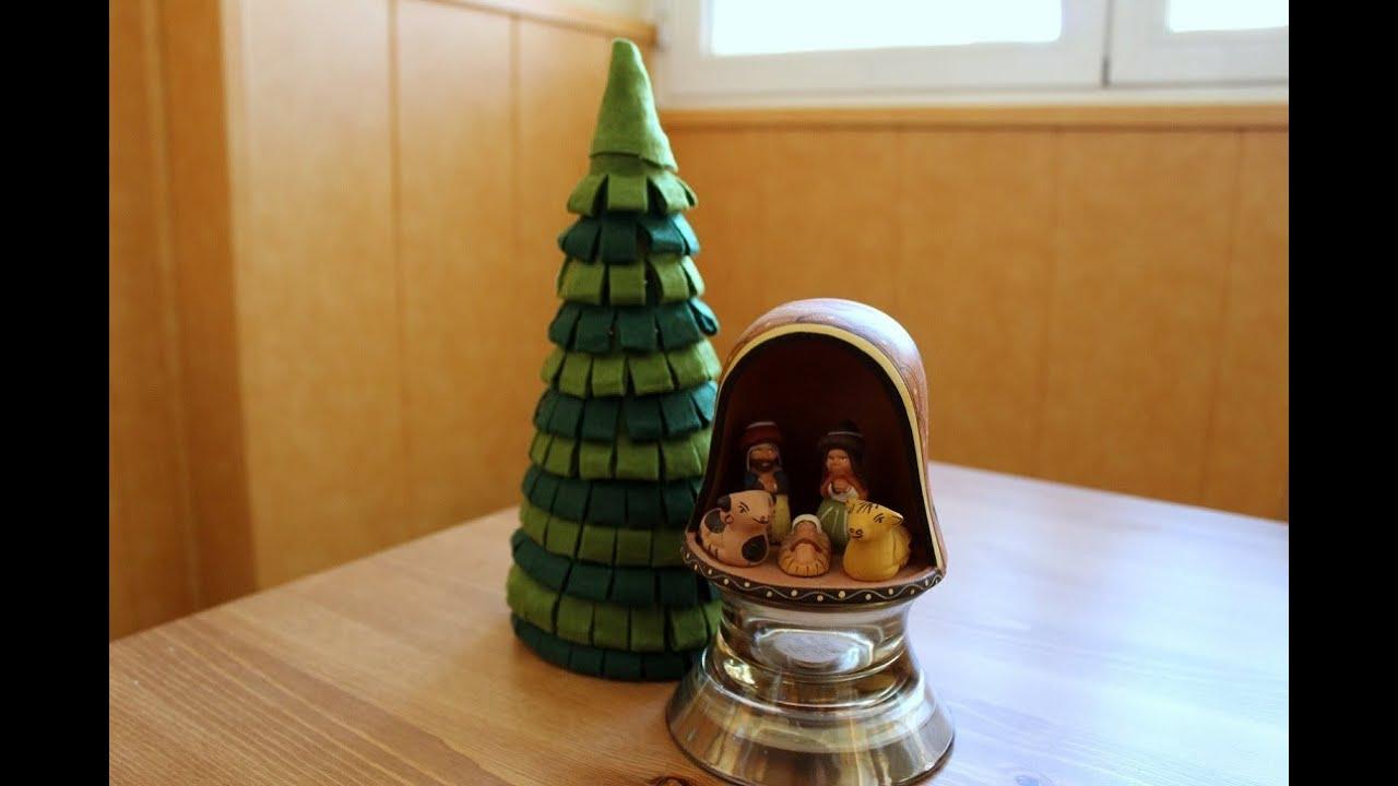 C mo hacer un rbol de navidad de fieltro - Arbol de navidad con adornos de fieltro ...