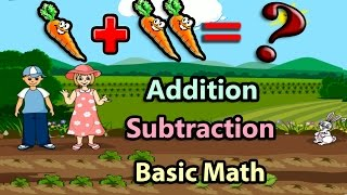 Basic Math For Kids: Addition and Subtraction, Science games, Preschool and Kindergarten Activities