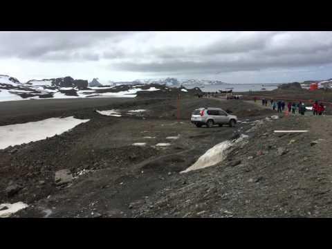 Landing in King George Island. Grown view