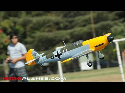 New Airfield 1400MM BF109 5ch Brushless Warbird with Retracts Review