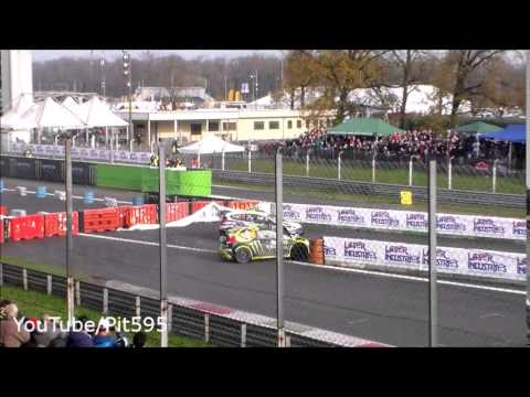 Valentino Rossi amazing overtake & near crash Monza Rally Show 2014