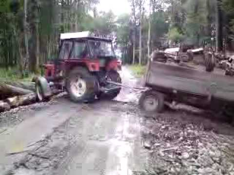 Zetor 5245 and 6340 with wood