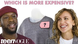 Cheap Vs. Expensive T-shirts - What's Behind The Price Tag? | Teen Vogue