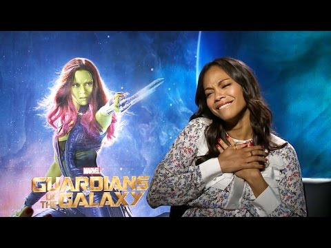 Zoe Saldana Talks Guardians & Gets Surprise Visit
