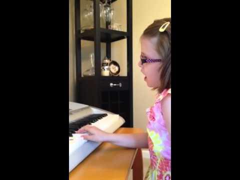 Calla playing the piano