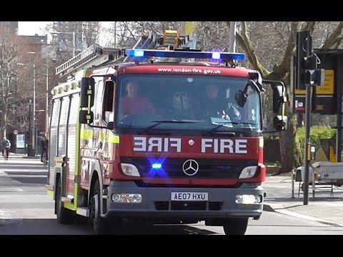 London Fire Brigade + British Transport Police // Pump Ladder w/Bullhorn + Response Car Responding