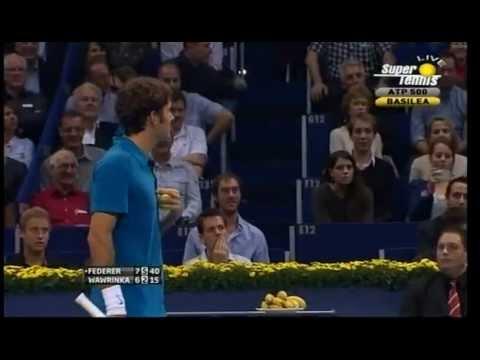 Federer – Wawrinka   BASEL2011  Roger's fair play