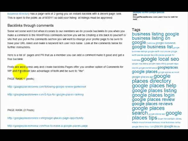 Backlinks Through Comments PR2 Links from Condor Marketing