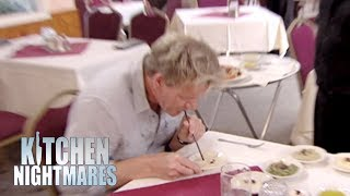 Gordon Ramsay Eats Humous Through A Straw | Kitchen Nightmares