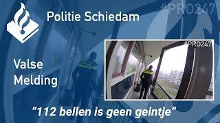"""Politie #PRO247 Valse melding  - """"112 bellen is geen geintje"""""""