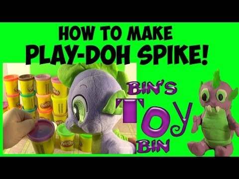 How to Make Play-Doh SPIKE THE DRAGON! My Little Pony Fun! by Bin's Toy Bin