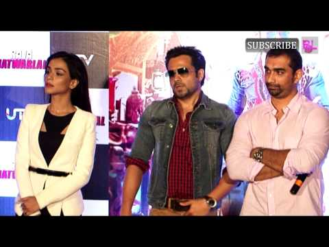 Emraan Hashmi and Humaima Malik attend the trailer launch of...